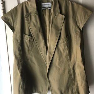 Yves Saint Laurent Cotton Summer Blazer Size US 12